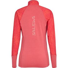 SALEWA Agner Hybrid Durastretch Langærmet T-shirt Damer, rouge red